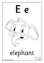 Coloring pages for kids alphabet coloring pages upper case, lower case and cursive. Letter E Colouring Pages