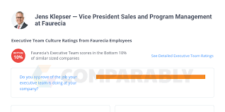 Jens Klepser — Vice President Sales and Program Management at Faurecia |  Comparably