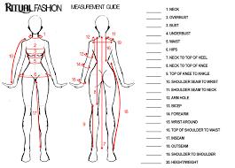 Women S Measurement Chart Body Measurement Guide Ritual
