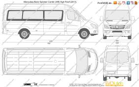 mercedes benz sprinter bi lwb high roof vector drawing