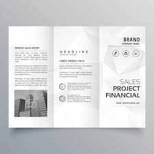 White Brochure Black And White Brochure With Polygonal Shapes Vector Free Download
