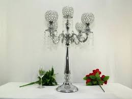 crystal chandelier metal candle holder centerpiece h wedding font b table ideas candelabra cryst