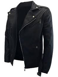 belted asymmetrical zip pu leather biker jacket black prev next f2c7f03183a514910aa07b8207a39c3e jpg