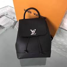lv louis vuitton small backpack leather black handbags best replica