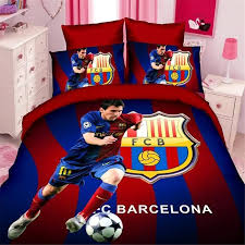 whole soccer star kids bedding set of twin single size duvet