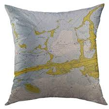 Key Largo Chart Amazon Com Mugod Pillow Cases Vintage Key Largo Nautical