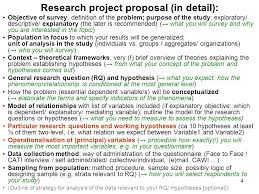 Research proposal definition