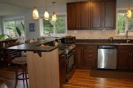 Granite Kitchen Islands With Breakfast Bar L Shaped Kitchen Breakfast Bar Kutsko Kitchen