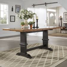 Eleanor Solid Wood Counter Height Trestle Base Dining Table from iNSPIRE Q  Classic | Overstock.