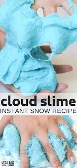 How To Macke The Best Cloud Slime Recipe Little Bins For Little Hands