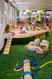 Pin 2 - The sand pit and fake grass inside allows children to explore their  senses within inside the centre.