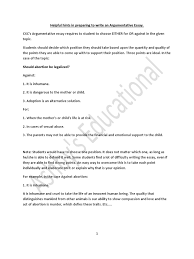 cxc csec english argumentative essay handout abortion