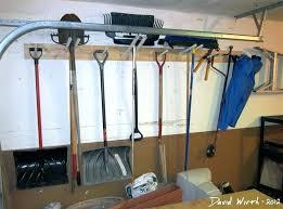 full image for hang garden tools in garage tool walls garage shelf rack garden tools hang