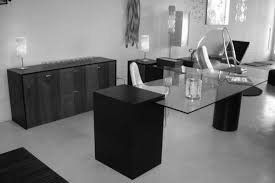 interior contemporary black modern office. Pretty Black Glass Office Desk 8 Modern White L Shaped Computer Wooden Furniture Executive Interior Contemporary