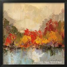 abstract painting fall riverside ii by silvia vassileva art for living room hand painted high quality in painting calligraphy from home garden on
