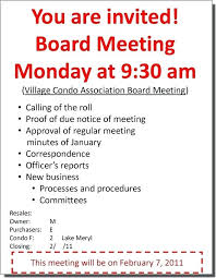 Meeting Announcement Template Meeting Announcement Template Golden Lakes As Notice Sample