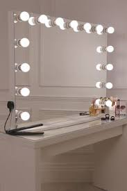 modern mirrored makeup vanity. 15 Frosted Bulb Hollywood Mirror With Crisp White Finish Modern Mirrored Makeup Vanity D