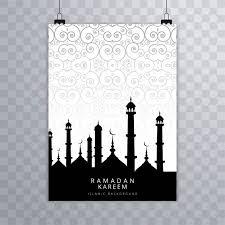 Modern Eid Mubarak Islamic Brochure Card Vector Vector Free Download