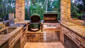 40 Big Green Egg Outdoor Kitchen Ideas Built In And Island Designs