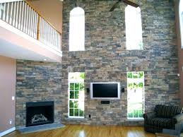 faux panels for fireplace improper stone over brick