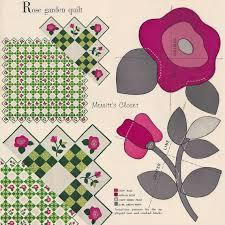 2671 best Applique images on Pinterest | Patterns, Crafts and Cushions & INSTANT DOWNLOAD PDF Vintage Applique Quilt Pattern - Copy of the Original  Rose Garden Quilt Pattern Adamdwight.com