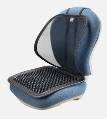 sm 7500 adjule mesh lumbar with wooden beaded massage seat