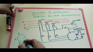 how to connect voltage selector switch and ammeter selector switch we take first secondary of ct terminals a takeout for the two terminals