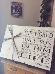 bible verse wall art large scripture verse sign for god so loved the world christian wall art western home decor rustic home decor pinterest bible  on bible verse wall art pinterest with bible verse wall art large scripture verse sign for god so loved