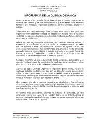 Importancia De La Qu Mica Org Nica By Pedro Soto Issuu