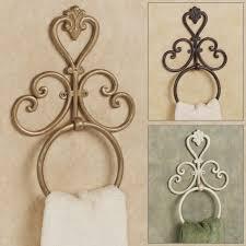 Decorative Bathroom Towel Hooks Unique Towel Hooks With Vintage Mounted Towel Ring Design For