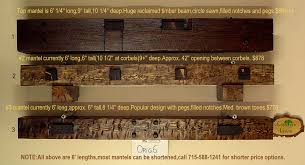rustic wood fireplace mantels for