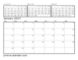 2017 calendars by month download 2017 printable calendars