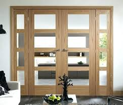 interior double doors with glass ireland oak french wooden side panels interior glass partition doors