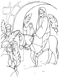 Small Picture Palm Sunday Coloring Page