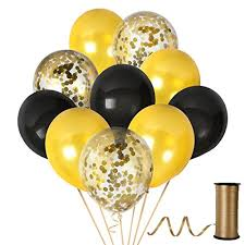 gold latex balloon 12 clear gold confetti balloons pieces set black gold decorations thick party decorations for birthday party