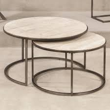 round nesting coffee table with luxury style to create cute style to your house designing ideas