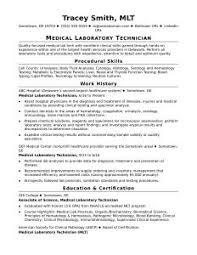 Senior Lab Technician Resume Sample Tech Template Medical