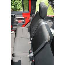 rugged ridge rear seat cover neoprene black 2 door jeep wrangler jk 2007 2018