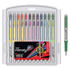 Bic Intensity Fashion Permanent Markers Ultra Fine Point Assorted Colors 36 Count Packaging May Vary