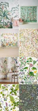 Floral wallpaper ...