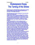 the taming of the shrew the degrading of women gcse english  examine the ways in which shakespeare presents issues of marriage and relationships particular
