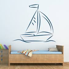 on boat wall art with sail boat wall sticker boat wall art