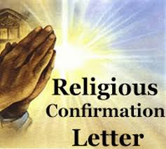 Religious Confirmation Letter Free Letters
