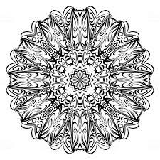 Bloem Mandala Kleurplaten Decoratieve Elementen Oosterse Patroon