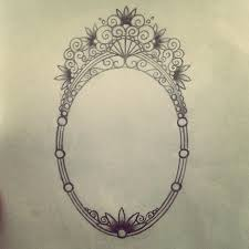 antique mirror frame tattoo. Interesting Antique Unfinished Mirror Or Frame Tattoo Design Inside Antique Mirror Frame Tattoo