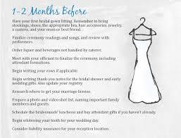 Wedding Checklist 1 2 Months The Mba Bride