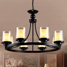vintage 8 light glass shade pillar candle chandelier pillar candle chandelier
