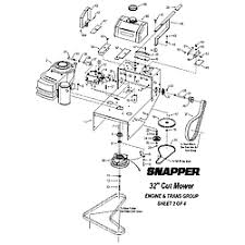 snapper mower parts model sgv13321kw sears partsdirect engine trans