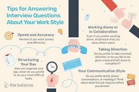 How To Answer Interview Questions About Your Work Style