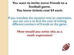 translate each situation into an algebraic equation tessshlo